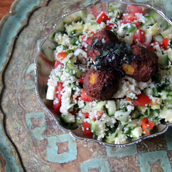 Couscous Salad mit Falafel, Vegan Essen, Vegan kochen, vegane Rezepte, einfache Rezepte, WEightwatchers, Abnehmen