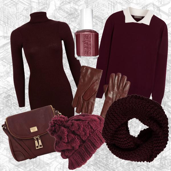 Marsala, Shoppingtipps, Trendfarbe, Essie, Handtasche, Dunkelrot