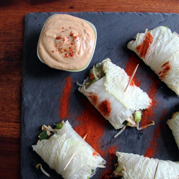 Vegane Küche, Vegan Kochen, Vegane Asia Wraps, Rezept, einfaches Rezept